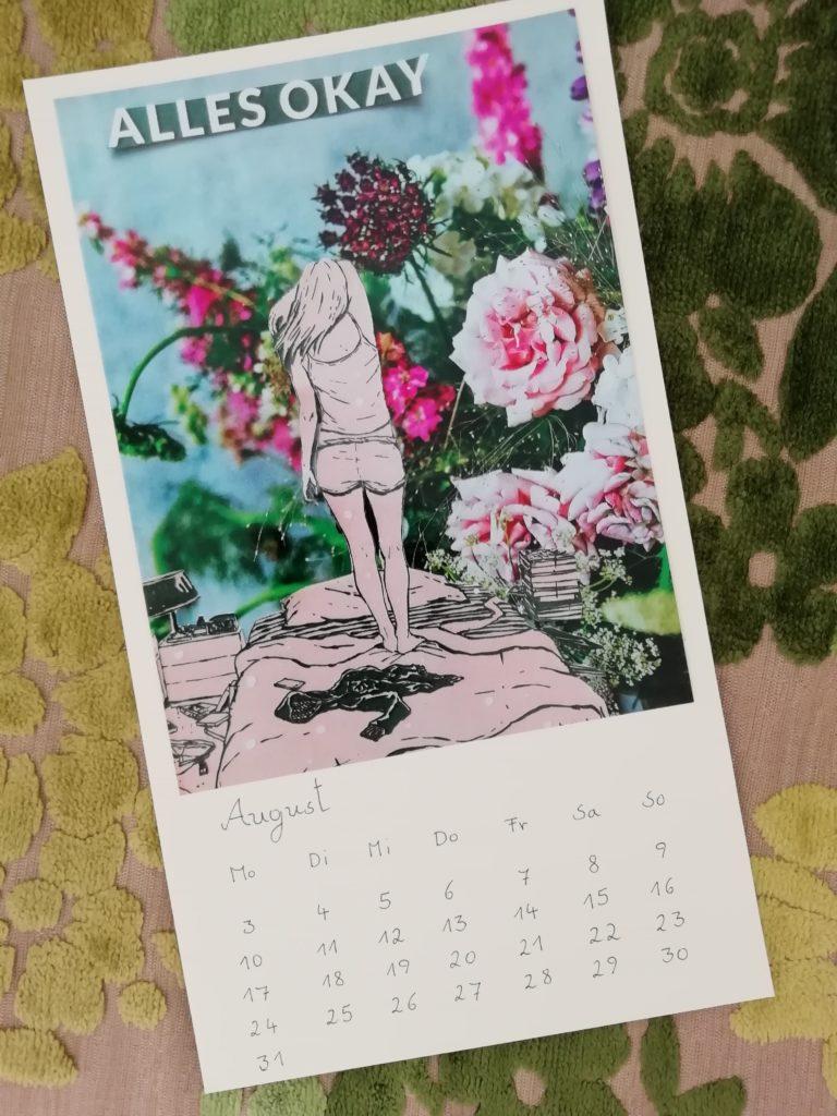 Rückenansicht von Mädchen vor Blumen